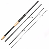 Compare Johncoo 2017 Newest Spinning Fishing Rod 2 4M Carbon Fishing Rod 4 Sections Travel Rod Feeder Rod Intl