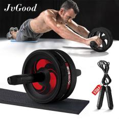 Jvgood Ab Roller Wheels With Knee Pad Ab Carver Pro Roller Core Workouts Exercise Fitness With Jump Rope Knee Pad Wrist Band Coupon Code