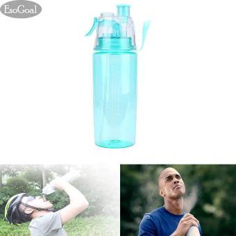 JvGood Leak Proof Sports Spray Mist Water Bottle Cooling Plastic Drinking Bottles For Workout Cycling Running Biking600ml