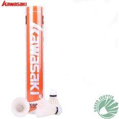 Kawasaki Badminton Shuttlecock K500 Badminton Goose Feather 12pcs/tube - Intl By Green Sports Co., Ltd