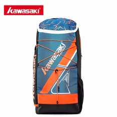 Recent Kawasaki Kbb 8230 Badminton Bag Backpack Three Racket Capacity Men Women Badminton Tennis Racket Sports Bags(Blue) Intl