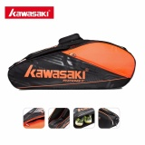 Review Kawasaki Racket Shoulder Racquet Sports Badminton Bags Single Shoulder For 6 Rackets Tennis Racket Bag Gym Tcc 055(Orange) Intl Kawasaki