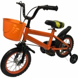 Low Cost Kids Bicycle 12 Inch Wheel Size Orange