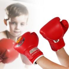 Kids Boxing Fighting Muay Thai Sparring Punching Kickboxing Grappling Sandbag Gloves (red) - Intl By Highfly.