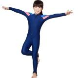 Kids Long Sleeve Upf50 Sun Uv Protection Full Body Swimsuit For Girls M 105 120Cm Intl On China