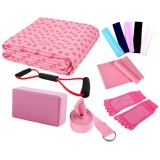 Low Price Kobwa Yoga Starter Kit 7 Piece Essentials Beginners Bundle Include Yoga Towel Yoga Blocks Yoga Strap Stretch Band Yoga Sock Yoga Head Band Spring Cable Pink Intl