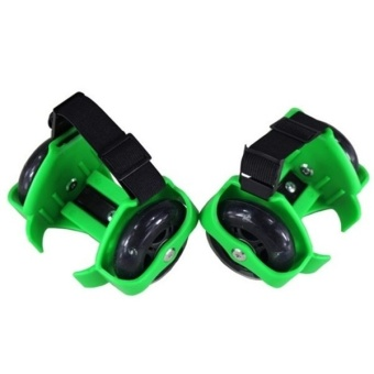 Lazada New Children Kid Roller Skates outdoor game toy Green