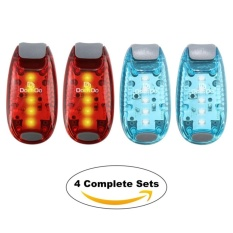 Led Safety Light 4 Pack Free Bonuses Clip On Strobe Runninglights For Runners Dogs Bike Walking The Best High Visibilityaccessories For Your Reflective Gear Bicycle Etc Intl Cheap