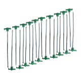 Leegoal Heavy Duty Tent Pegs T Non Rust Stakes With Green Stoper 20Pcs Free Shipping