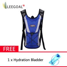 Best Rated Leegoal Hydration Rucksack Backpack Climbing Pouch With Water Bladder Bag Blue