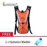 Sale Leegoal Hydration Rucksack Backpack Climbing Pouch With Water Bladder Bag Orange Leegoal Branded