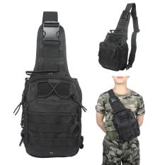 Compare Leegoal Outdoor Tactical Backpack Canvas Shoulder Sling Backpack Chest Deployment Bags For Camping Hiking Trekking Rover Sling Pack Chest Pack Black Prices