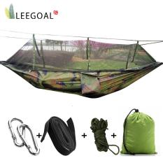 Leegoalsingle-Person Hammock Hanging Bed Portable High Strength Fabric Hammock With Mosquito Net For Outdoor Camping Travel,camouflage By Leegoal.