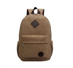 Leegoal Unisex Vintage Canvas Casual Backpack Schoolbag Duffel Bag Travel Hiking Camping Bag Weekend Bag (brown) By Leegoal.
