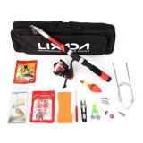Sales Price Lixada Fishing Tackle Set With 2 1M Telescopic Fiberglass Fishing Sea Rod Spinning Fishing Reel Fishing Baits Hooks Fishing Bag Kit Seawater Freshwater Suits Professional Travel Fishing Pole Rod Set Intl