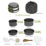 Deals For Lixada Portable Outdoor Tableware Camping Cookware 2 3 People Multifunctional Portable Cooking Set For Outdoor Stove Intl