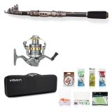 Lowest Price Lixada Telescopic 2 7M Fishing Rod And Reel Combo Full Kit Spinning Fishing Reel Gear Organizer Pole Set With 100M Fishing Line Lures Hooks And Fishing Carrier Bag Case Fishing Accessories Intl