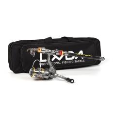 Lixada Telescopic Fishing Rod And Reel Combo Full Kit Carbon Fiber Fishing Rod Pole + Spinning Fishing Reel + Fishing Tackle Carrier Bag Case Fishing Gear Set - Intl By Tdigitals.