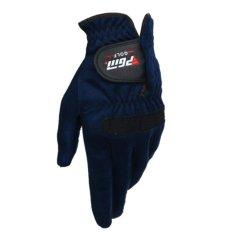 Lt365 1pcs Pgm Men Golf Glove Left Hand Outdoor Sport Superfine Fiber Cloth Golf Glove Golf Outdoor Accessories - Blue Size 25 - Intl By Laza365.