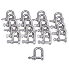 Discounted M6 304 Stainless Steel D Type Shackle Set Of 20 Silver Intl
