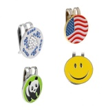 Magideal 4 Pieces Alloy Metal Golf Magnetic Ball Marker With Hat Clip Golf Accessory Intl In Stock