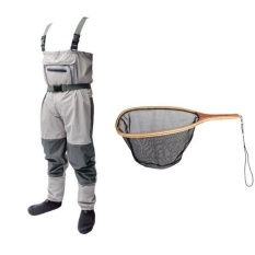 Price Magideal Fishing Wader With Stocking Foot Waterproof Chest Wader Pants Landing Net Intl On Singapore
