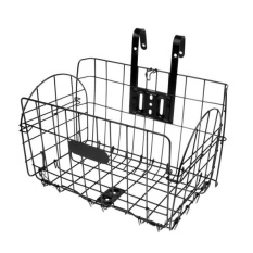Magideal Foldable Bike Basket Folding Bicycle Storage Front Basket Metal Wire Black - Intl By Magideal.