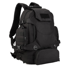 Magideal Military 3-Way Molle Rucksack Backpack Hiking Trekking Camping Bag 40l Black - Intl By Magideal.