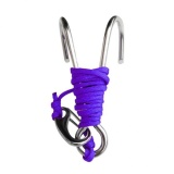 Best Rated Magideal Scuba Diving Double Dual 316 Stainless Steel Reef Hook With Line Purple Intl