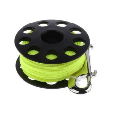 Wholesale Magideal Scuba Diving Finger Spool Wreck Reel With 30M Line Double End Snap Black Intl