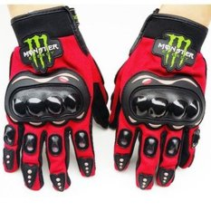 Men Women Monster Motorbike Sport Protection Glove /motor Racing Glove/ Motocycle Full Finger Protective Glove(red) - Intl By Swissant.