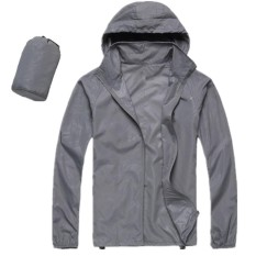 Men Women Quick Dry Hiking Jacket Waterproof Upf30 Sun Uv Protection Coat Outdoor Sport Skin Camping Clothing Color Light Gray Size L Intl In Stock