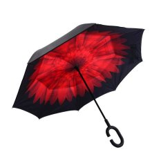 Low Price Mgc Inverted Umbrella Double Layer Reverse Folding C Shaped Handle Stand Up Umbrella Intl