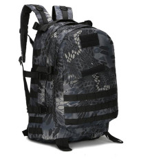 Military Backpack Outdoor Tactical Bag Heavy Duty 40l Black Python By Star Mall.