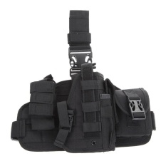 Molle Quick Detach Drop Leg Holster With Molle Pouch(black) - Intl By Sportschannel.