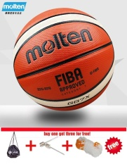 Molten Gg7x Basketball Ball Pu Materia Official Size7 Basketball Indoor And Outdoor Ball Training Equipment Free With Net + Bag And Needle - Intl By Shopping Easy.