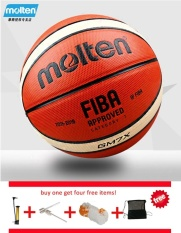 Best Offer Molten Gm7X Size 7 Pu Material Basketball Ball Outdoor Indoor Training Ballon Free With Net Bag Pin And Inflator Intl