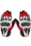 Low Cost Moonar Rs Taichi Leather Motorcycle Gloves Red White