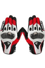 Buy Moonar Rs Taichi Leather Motorcycle Gloves Red White Moonar Cheap