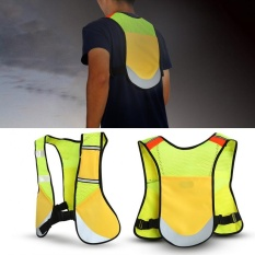 Multi-Function Night Sporting Reflective Cycling Running Vest Hiking Jacket (yellow) - Intl By Highfly.