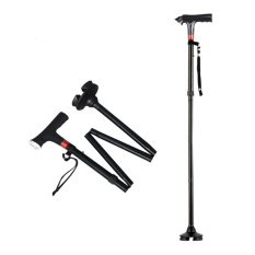 Buy 1 Pc Multifunctional Trusty Cane Self Standing Walking Stick For Old People With Led Light,panic Alarm And Alert Light And Cushion Handle 4 Feet Folding Anti Shock Walking Pole Aluminum Alloy Intl Online China
