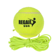 Natural Rubber Synthetic Wool Fiber Tennis Ball Dog Training Tennis Ball With String - Intl By Tomtop.