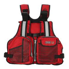New Adult Marine Buoyancy Aid Sailing Kayak Fishing Boating Ski Life Jacket Vest Red (export) By Freebang