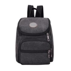 New Canvas Men Leisure Multifunction Outdoor Sport Backpack (black) - Intl By Welcomehome.