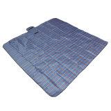 Best Reviews Of New Fold 200X200Cm Waterproof Rug Blanket Outdoor Beach Camping Picnic Mat Plaid Blue Intl