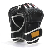 Price New Mma Ufc Sparring Grappling Boxing Fight Punch Ultimate Mitts Leather Gloves Black Intl Oem New