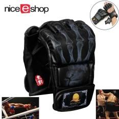 Niceeshop Half Finger Boxing Sanda Grappling Sandbag Gloves(black, Skull Finger) By Nicee Shop.