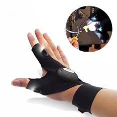 Niceeshop Outdoor Electric Night Lighting Gloves Led Torch Cover Thumb Index Finger Gloves Bicycle Glove For Camping Hiking Emergency Survival -Right Hand - Intl By Nicee Shop