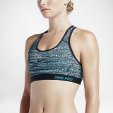 Buy Nike Pro Classic Padded Static Sports Bra Blue Lagoon Cheap On Singapore