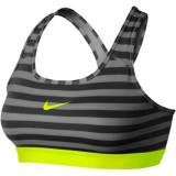 Nike Women S Pro Classic Stripe Bra Grey Promo Code
